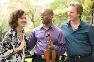 Emerald Trio w Instruments on Porch
